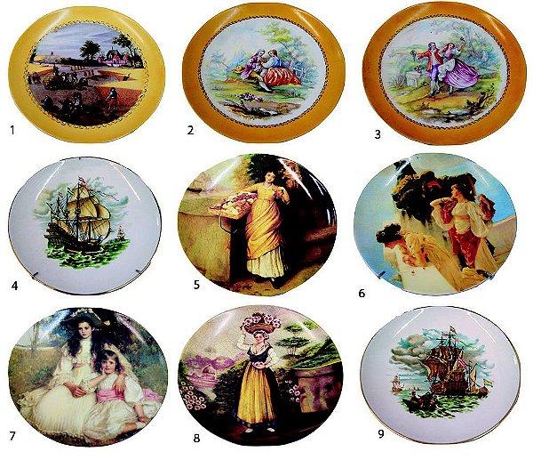 Prato De Porcelana Decoração parede Vintage Retro