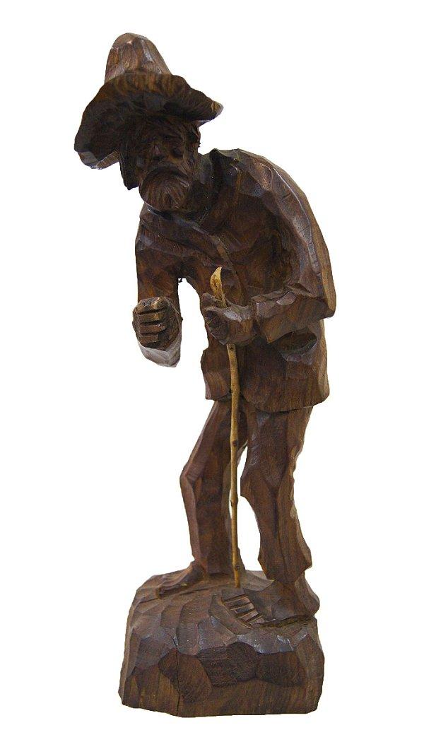 Escultura em Jacarandá Velho com Bengala