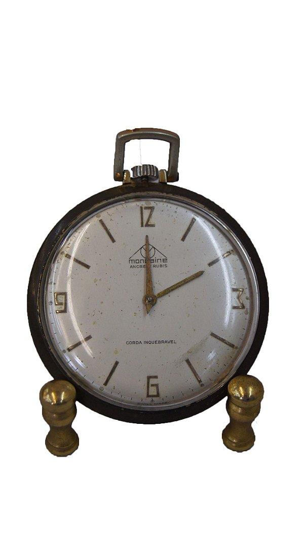 Relógio de bolso antigo Mondaine 17 Rubis