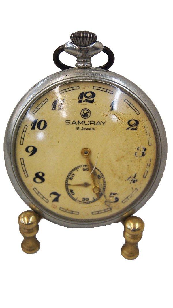Relógio de Bolso Antigo Samuray 18 Jewels