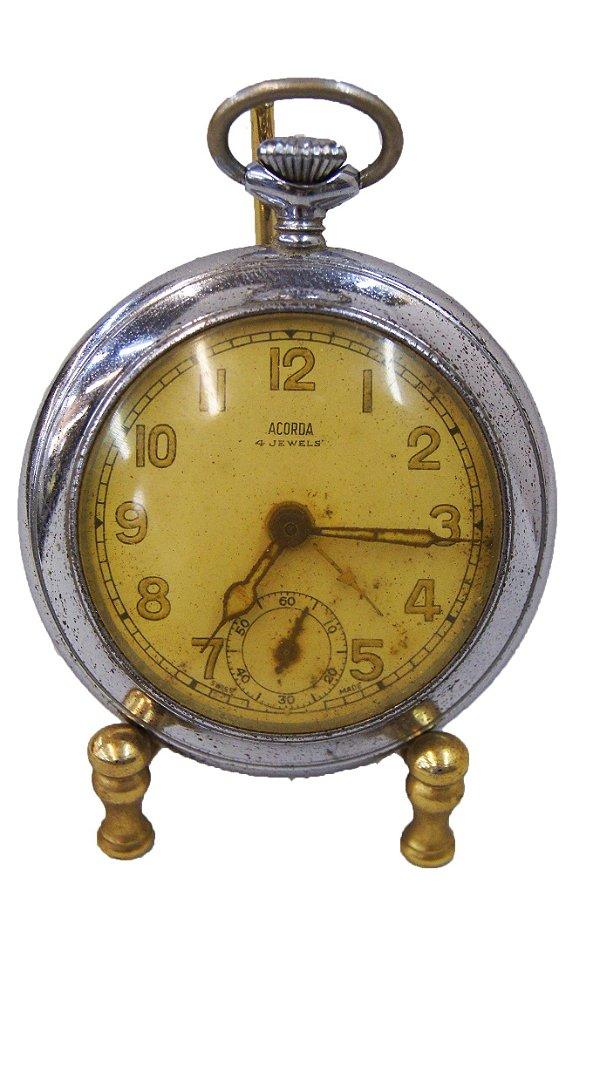Relógio de Bolso Acorda 4 Jewels
