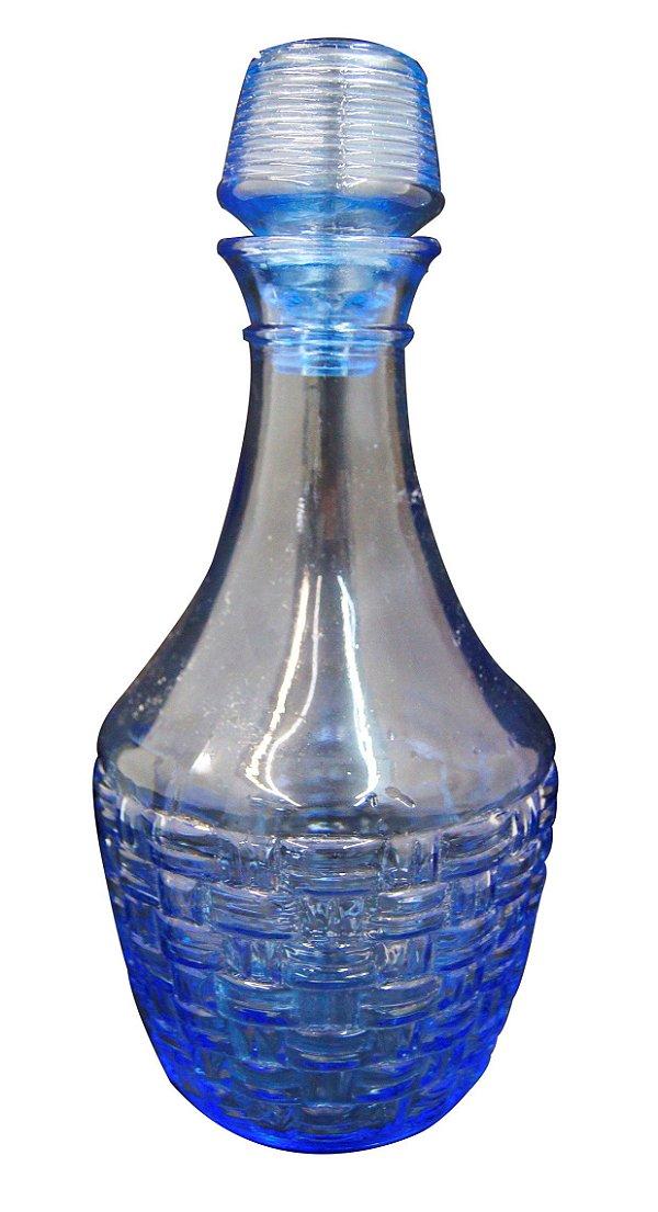 Licoreira De Vidro Azul