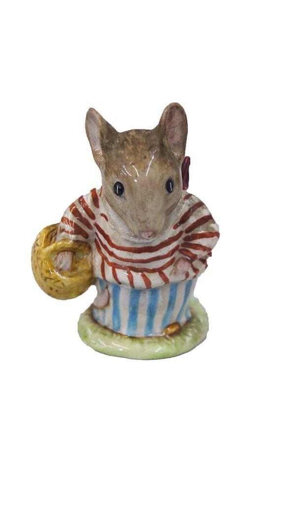 Enfeite Rato Porcelana Beswick Beatrix Potter Tittle Mouse