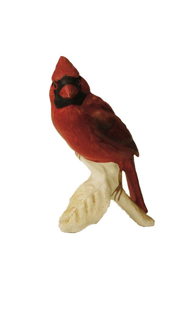 Bibelô Escultura em Porcelana Pássaro Cardeal-do-norte