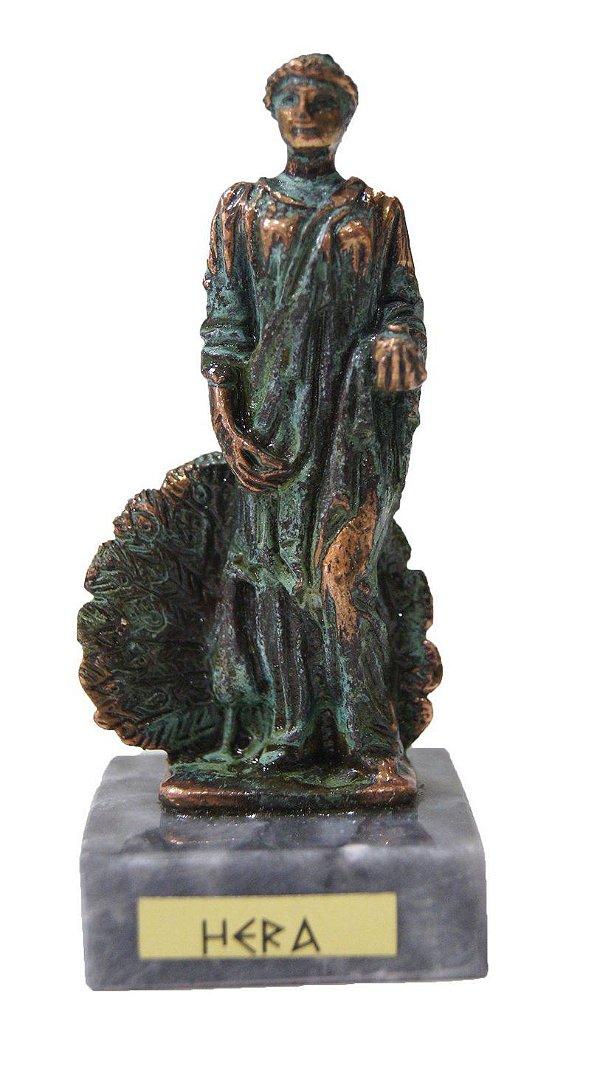 Escultura Miniatura em Bronze Deus Grego Hera