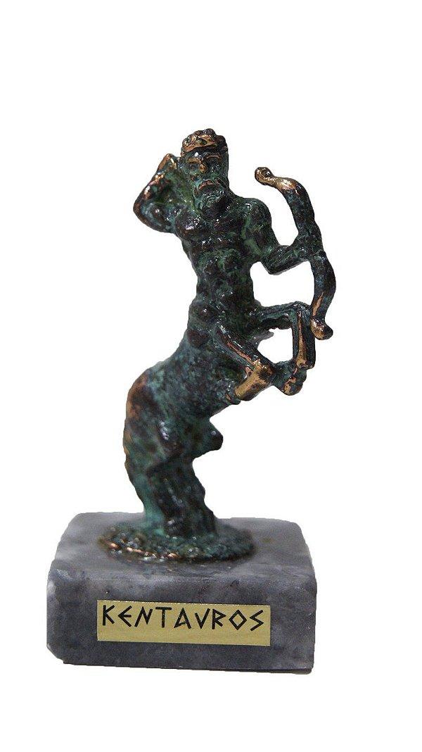 Escultura Miniatura em Bronze Deus Grego Centauro