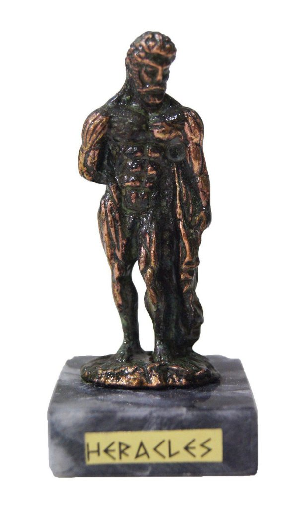 Escultura Miniatura em Bronze Deus Grego Héracles