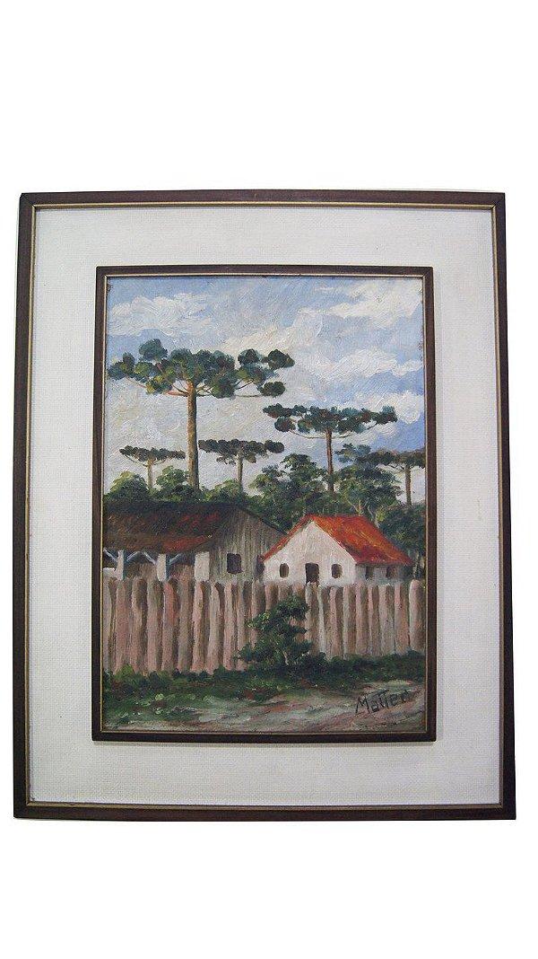 Quadro Pintura Óleo Sobre Tela Vilarejo - Guilherme Matter
