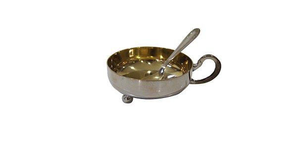 Taça Para Sobremesa Gourmet Em Prata e Dourado