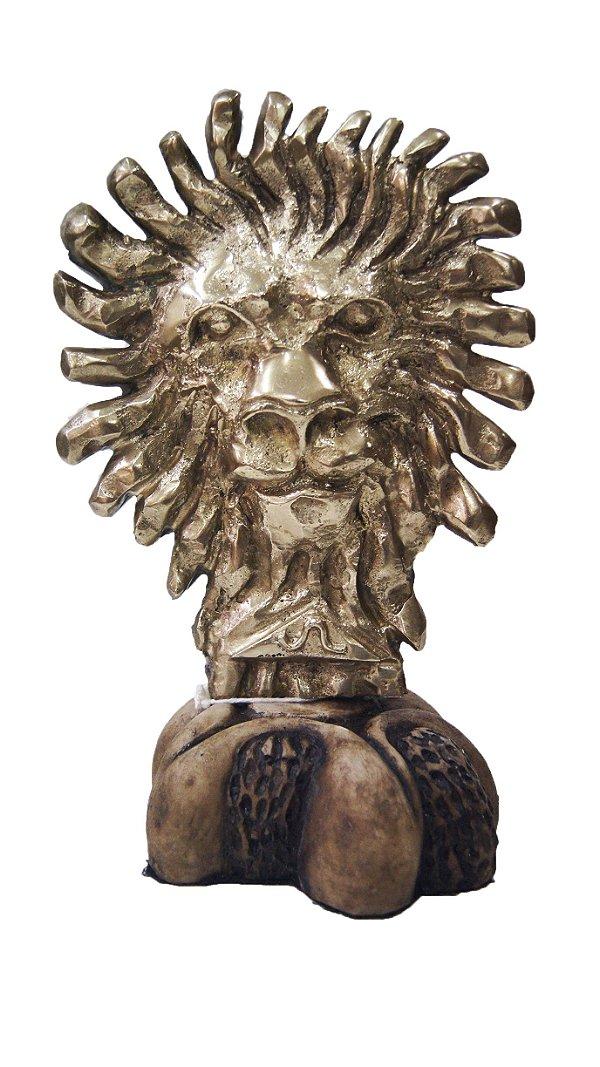 Escultura Leão Em Bronze Por Gagliastri
