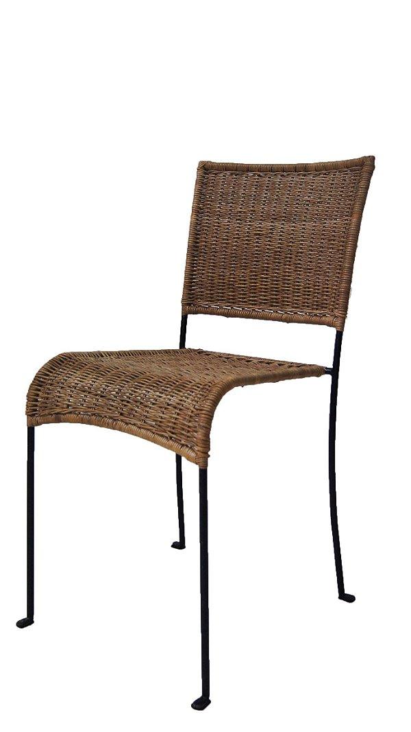 Conjunto de 8 Cadeiras Palhinhas e Metal