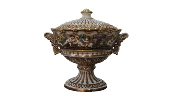 Antiga Bomboniere de Porcelana Capodimonte