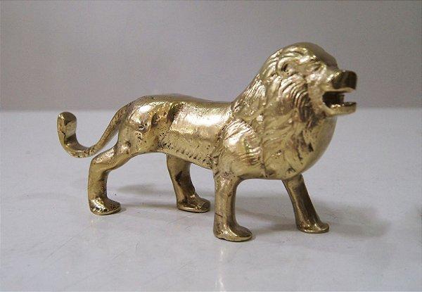 Estatua Escultura Leão em Bronze Decoração