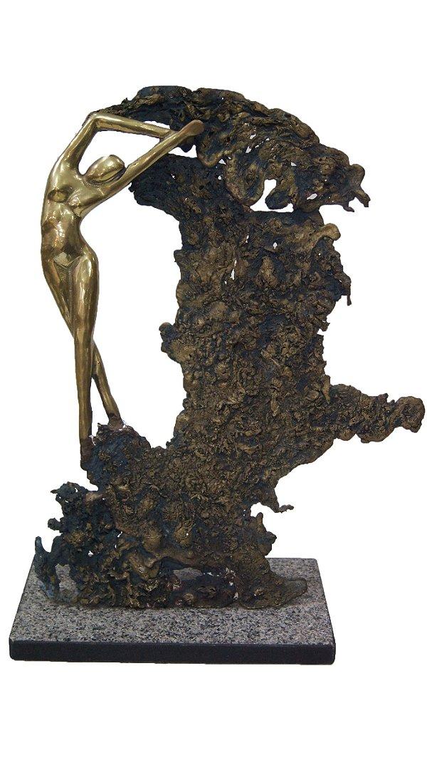 Escultura Abstrata Mulher em Bronze