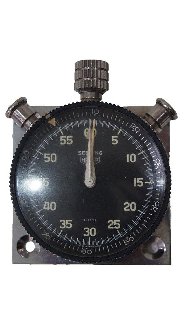 Cronometro Analógico de Carro Sebring Heuer Prata