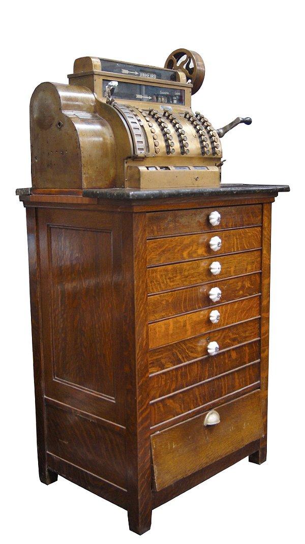 Registradora Antiga National Ano 1915 Funcionando 6 gavetas