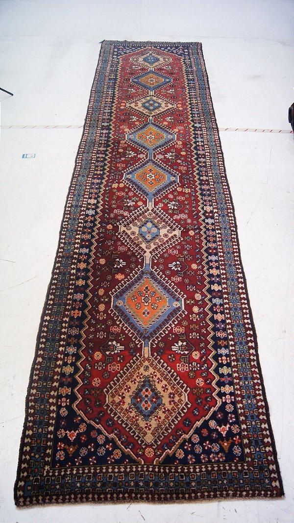 Tapete Passadeira Persa Original Vermelho 433 x 103cm