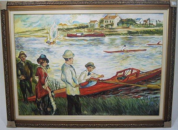 Quadro Pintura A Óleo Rio - Acir Fressatto