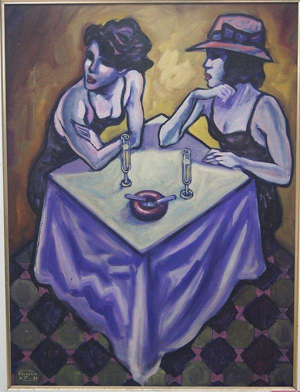 Quadro Pintura A Óleo Mulheres - Acir Fressatto