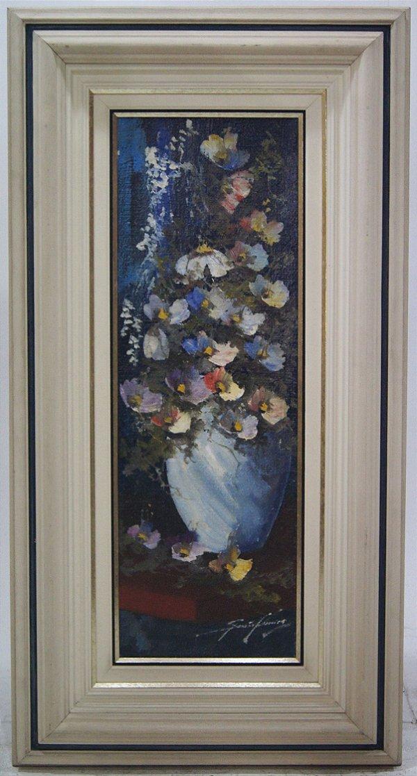 Quadro Pintura A Óleo Vaso de Flores - Sansão Pereira