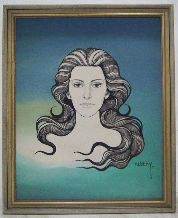 Quadro Pintura a Óleo Busto Mulher - Albery 82