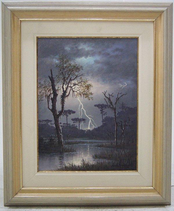 Quadro Pintura Óleo Relâmpago Hort Schnepper 1993