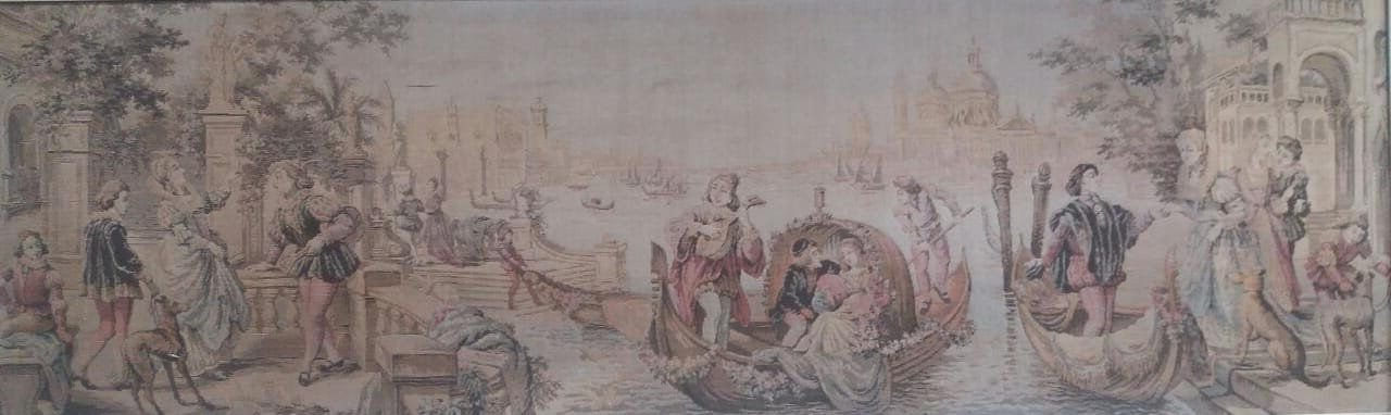 Quadro Gobelein Cenas Galante italiana Veneza