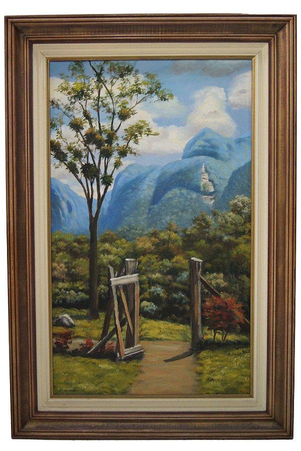 Quadro Pintura a Óleo Serra do Mar P. Beltrane 1996