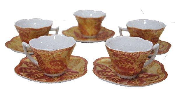 Jogo de Café Porcelana Dm Brasil