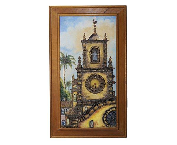 Quadro Pintura a Óleo Igreja -Joyse 87