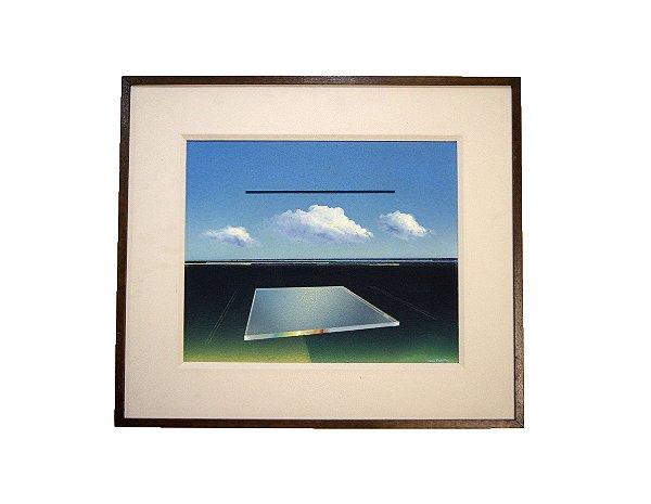 Quadro Surrealismo Ivan Freitas 1980 Rio