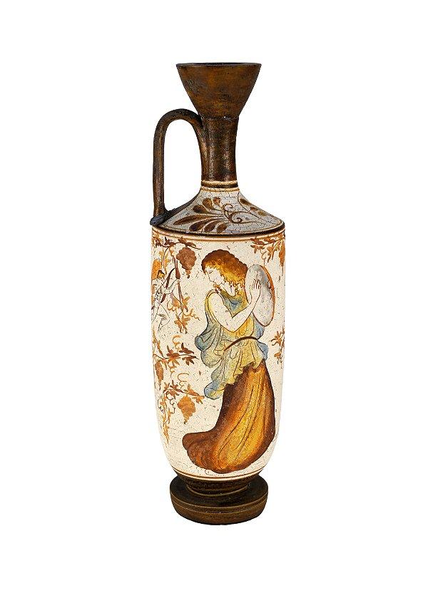 Vaso em Cerâmica lekythos com Lacre Original de Chumbo