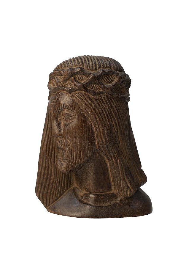 Escultura em Relevo Jesus Cristo em Madeira de Jacarandá