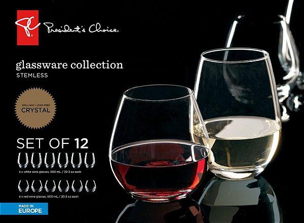 Conjunto 12 Taças Para Vinho e Champagne President's Choice