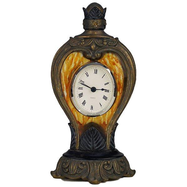 Relógio em Resina Estilo Art Nouveau 27cm