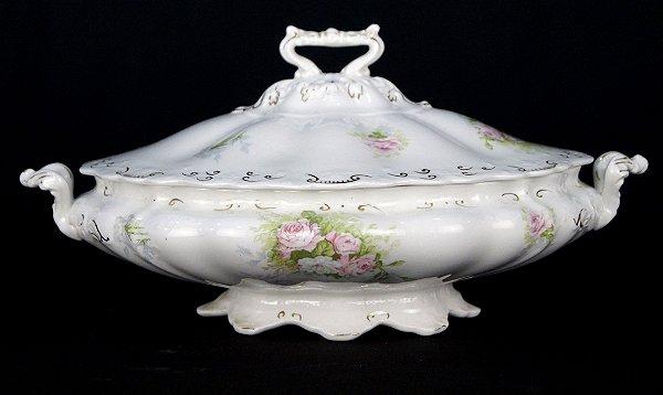 Sopeira Terrina Em Porcelana Inglesa J & G Meakin Flores