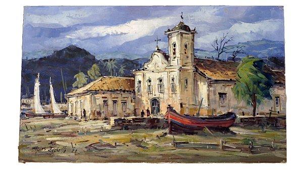 Quadro Pintura a Óleo Parati - Marcos Zechetto 89 30x50cm