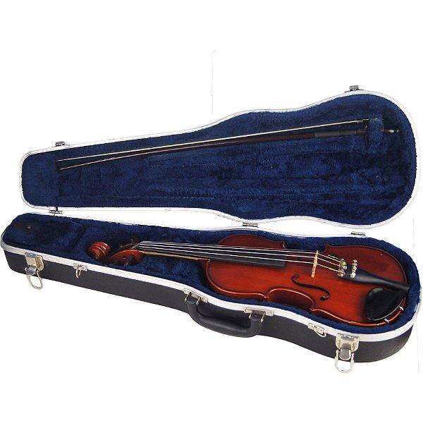 Violino 3/4 Glaesel Estudante Com Case Estojo Arco Breu