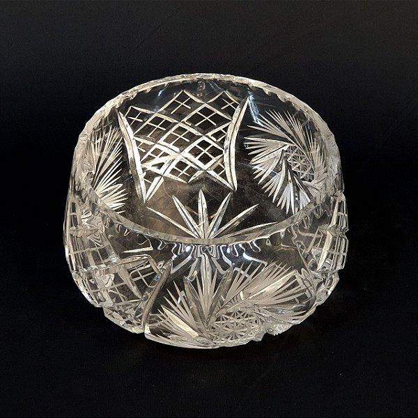 Centro de Mesa Fruteira Em Cristal Tcheco 20cm