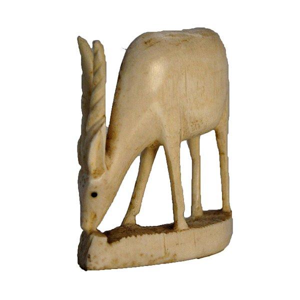 Escultura Alce Em Marfim Década 40