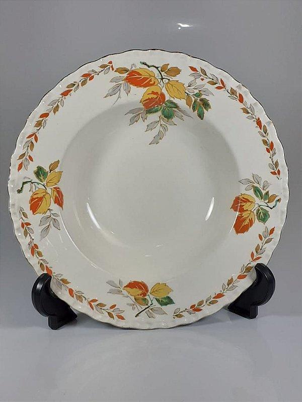 Prato em Porcelana Grindley England Decorado em Flores