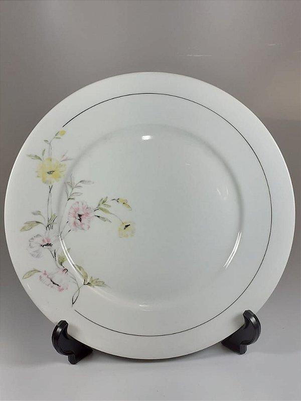 Prato para Bolo Em Porcelana Polovi Decorado