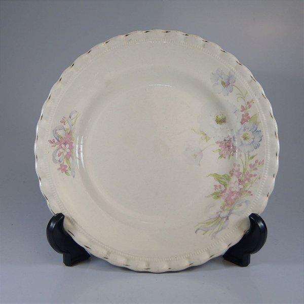 Prato de Sobremesa em Porcelana J&G Maekin Decorado