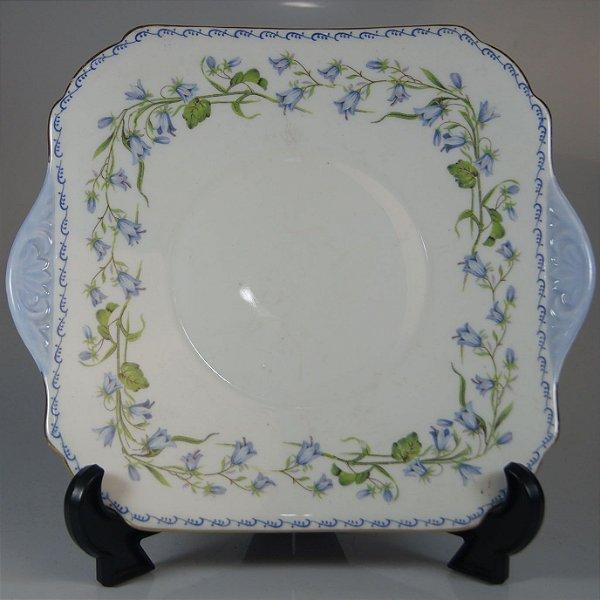 Prato em Porcelana Shelley Decorado em Flores