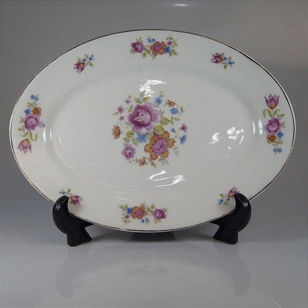 Travessa em Porcelana Maua Decorada Floral