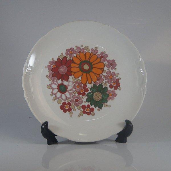 Prato em Porcelana Real Pintado a Mão Floral