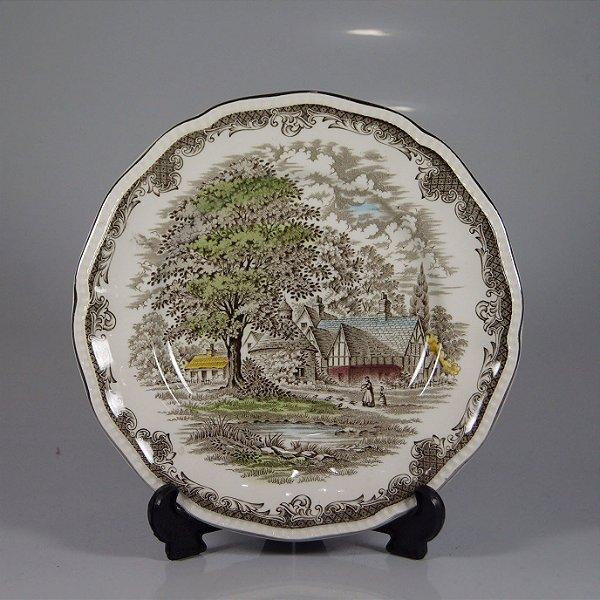 Prato em Porcelana Drohaoser Decorado Estilo Inglês