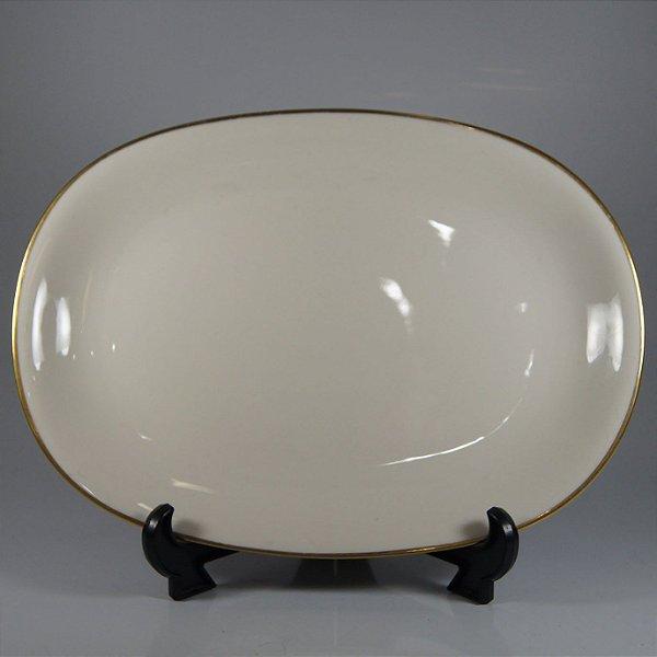 Travessa em Porcelana KPM Filetada em Ouro