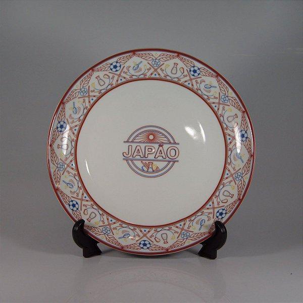 Prato em Porcelana Schmidt Decorado Japão