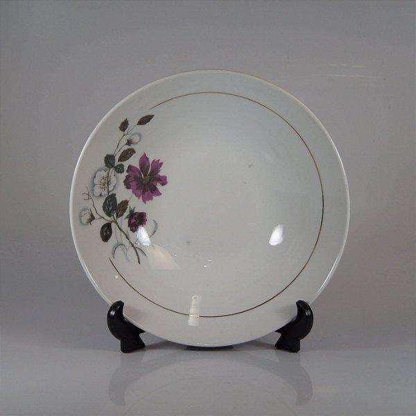 Travessa em Porcelana Steatita Decorada Floral